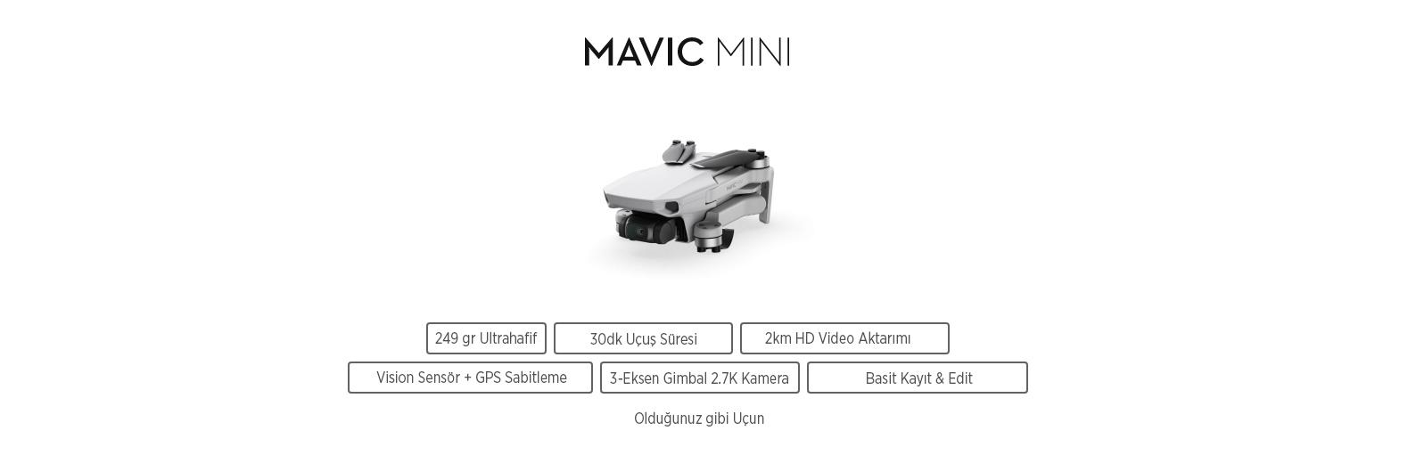 Mavic Mini Combo Let creativity fly