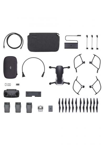 DJI STORE TURKİYE - DJI MAVIC AIR FLY MORE COMBO ( ONYX BLACK ) 64 GB Sd Kart Hediyeli